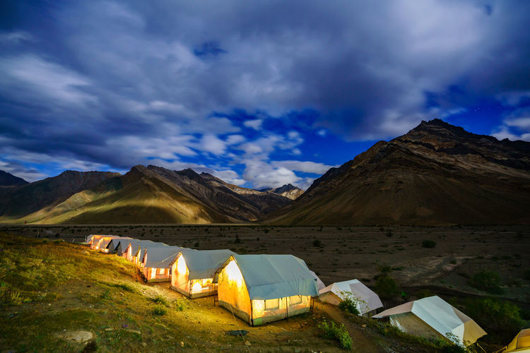 Nature Panorama Sky And Clouds Beauty In Nature Blue Sky Cloud - Sky Hight Landscape Leh Ladakh India Leh Ladakh.. Mountain Mountains Mountains And Sky Nature No People Outdoor Outdoors Scenics - Nature Sky Tranquility Travel Destinations