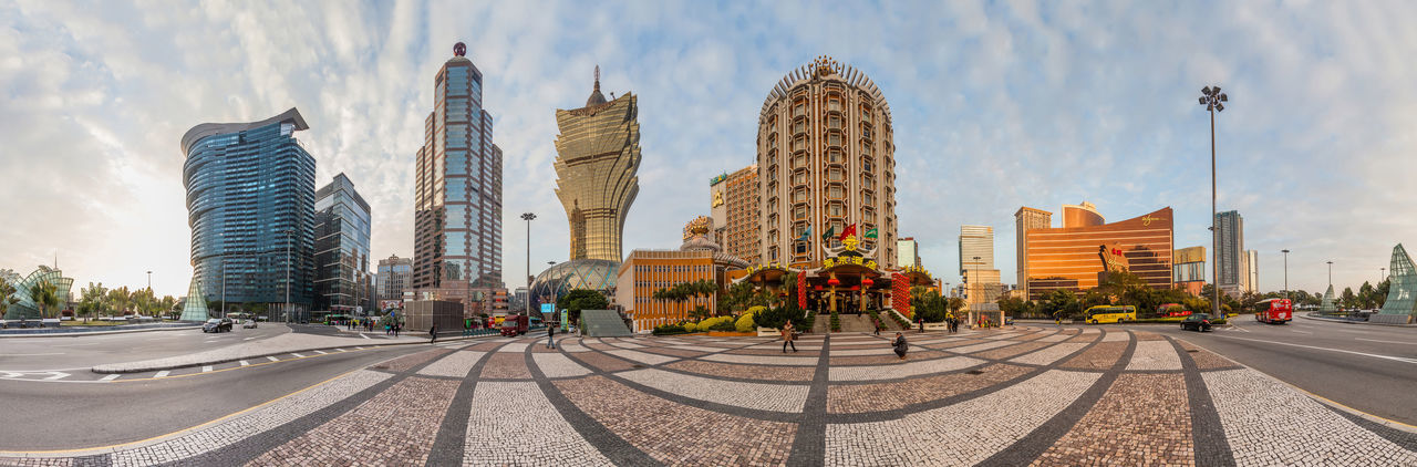 Grand Lisboa Hotel comprised of an ultramodern tower rising from a striking geodesic dome, this iconic casino hotel Casino China Grand Grand Lisboa Grand Lisboa Macau Hotel Lisboa Macao  Macao China Macau Macau, China Panorama Vacation