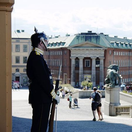 Photo of one of the King Armed Guards by the Castle in Stockholm Sweden