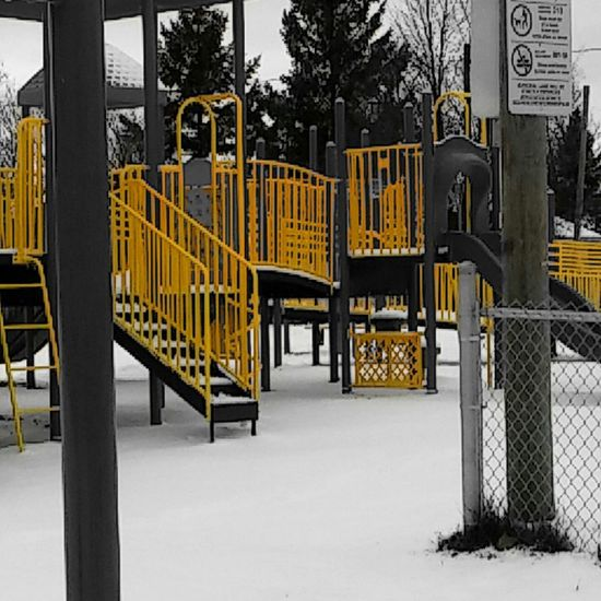 All yellow only yellow picture of playground!! 😎😄 Playground Mobile Photography Structures Slide Park Sudbury Photooftheday Showcase: November Creative Light And Shadow Pattern, Texture, Shape And Form Yellowmagic