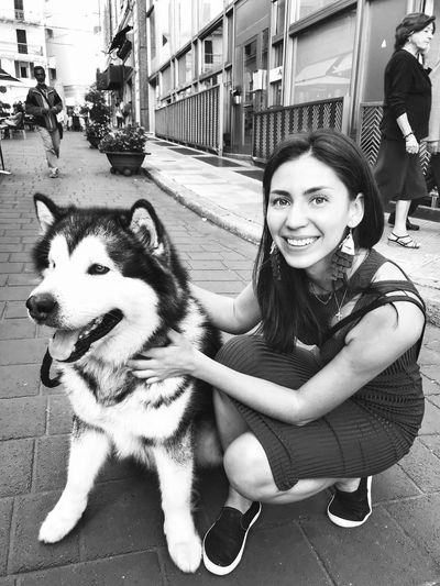 Sanremo Italy Looking At Camera Portrait Pets Domestic Smiling One Animal Domestic Animals Dog Women Canine Young Women Lifestyles One Person Pet Owner