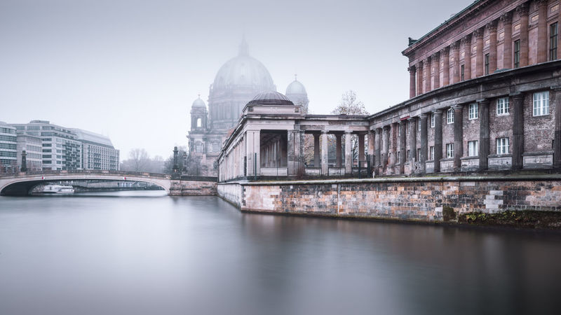 Berlin Cathedral on a cold and misty december morning Autumn Mood Berlin Cathedral Berlin Mitte Berlin Travel Berliner Dom Cityscape Clinical Atmosphere Copy Space Eyeem Berlin Fine Art Long Exposure Foggy Morning Germany International Landmark Long Exposure Photography Misty Morning Museumsinsel Berlin Muted Colors Nobody Philipp Dase Spree River Berlin Urban Icon Wide Angle View Discover Berlin Winter Mood Market Bestsellers 2017
