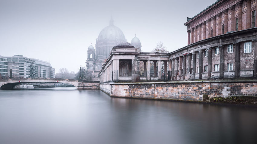Berlin Cathedral on a cold and misty december morning Berlin Cathedral Berlin Mitte Berlin Travel Berliner Dom Cityscape Clinical Atmosphere Copy Space Eyeem Berlin Fine Art Long Exposure Foggy Morning Germany International Landmark Long Exposure Photography Misty Morning Museumsinsel Berlin Muted Colors Nobody Philipp Dase Spree River Berlin Urban Icon Wide Angle View Discover Berlin Winter Mood Market Bestsellers 2017