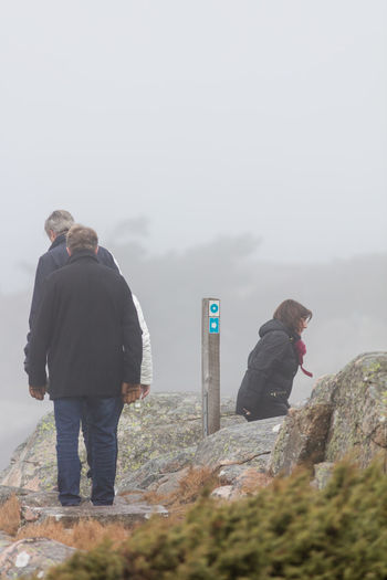 Adults Only Cold Day Exercise Fog Nature Outdoors Path Pathway People Real People Seaside Sweden Trail Walking Winter