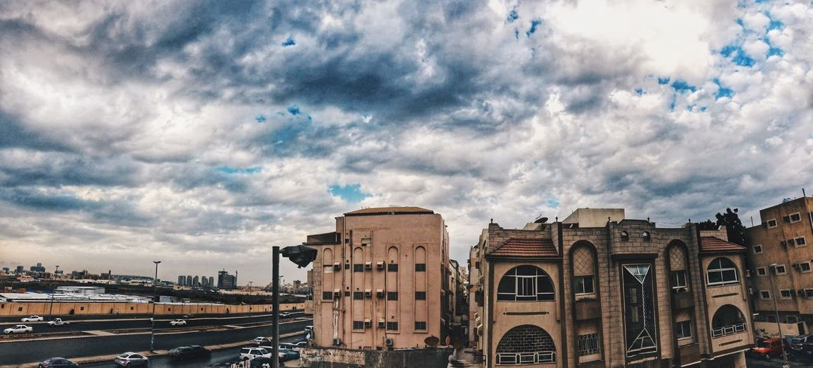 Photooftheday Photography IPhone IPhoneography Jeddah Cloud - Sky Sky Built Structure Architecture Building Exterior City Nature Outdoors Mode Of Transportation Travel Cityscape Travel Destinations The Past Building Low Angle View Day No People History