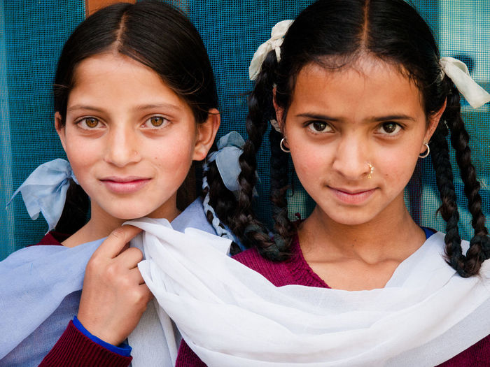 Two friends standing together Close-up Day Females Headshot Himache In Looking At Camera Outdoors People Portrait Smiling Two People Women