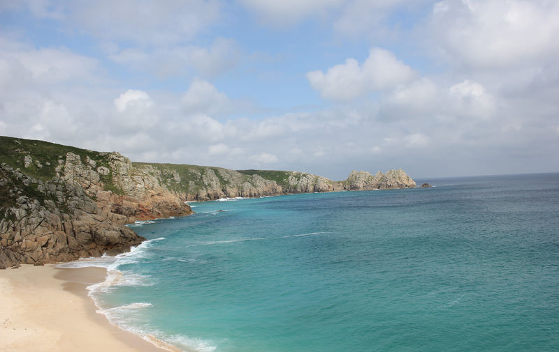 Porthcurno Cornwall English Beach Scene Beach Beauty In Nature Day Nature No People Outdoors Scenics Sea Sky Tranquility Water