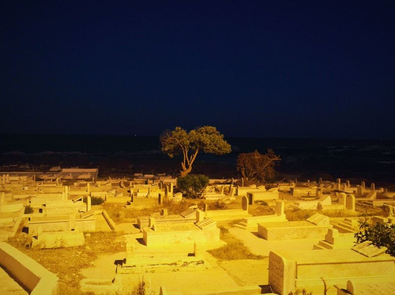 Outdoors Clear Sky History No People Nature Built Structure Night Ancient Blue Old Ruin Building Exterior Scenics Architecture Tree Beauty In Nature Sky Ancient Civilization Cimetary Olive Tree Nightphotography Seascape Peace And Quiet On The Road @ Mahdia's cimetary Tunisia