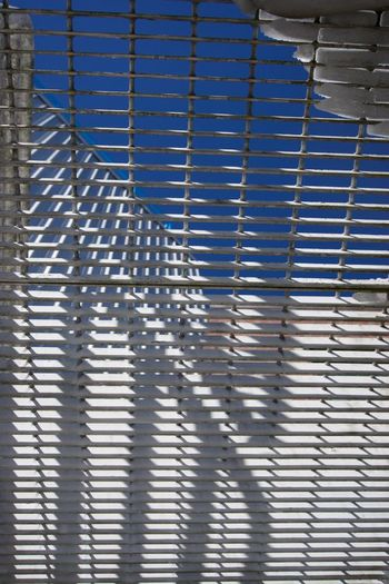 Abstract Backgrounds Built Structure Fire Escape Looking Up At The Sky Low Angle View Metal Pattern Railing Shadow Shadowplay Snow