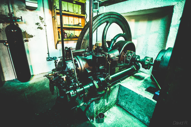 Close-up Engine Horizontal Indoors  Indoors  Industrial Industry Machine Machinery Metal Old Engine Rural