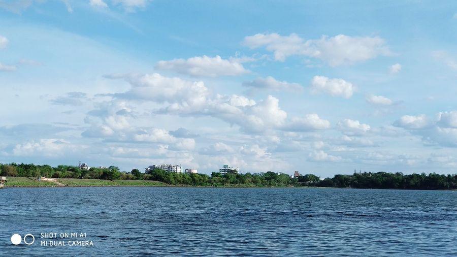 ☁️ Nagpur Ambajharilake Tree Water UnderSea Nautical Vessel Swimming Palm Tree Harbor Blue