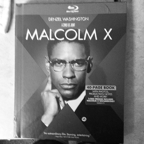 One of my favorite movies. Malcolmx SpikeLee Denzelwashington Bluray movie