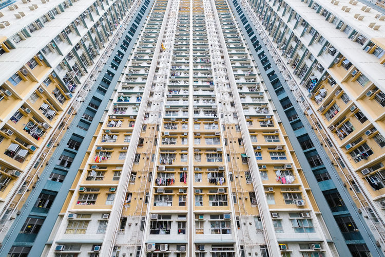 Apartment Architecture Backgrounds Balcony Building Building Exterior Built Structure City Day Full Frame In A Row Lifestyles Low Angle View Luxury Modern Outdoors People Residential District Skyscraper Tall - High Window