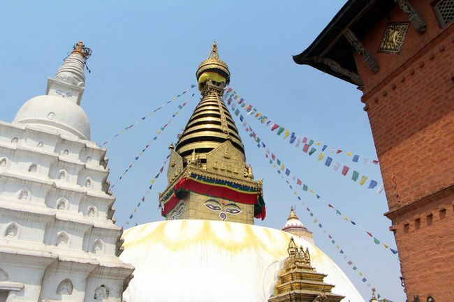 Buddha Statue Buddha Buddhist Temple Nepal #travel Pray For Nepal 🙏🙏 Buddha Stupa before earthquake at Swyambhunath swyambhunath temple