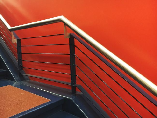Red Railing Steps And Staircases Built Structure Architecture Steps No People Staircase Day Outdoors Close-up EyeEmNewHere