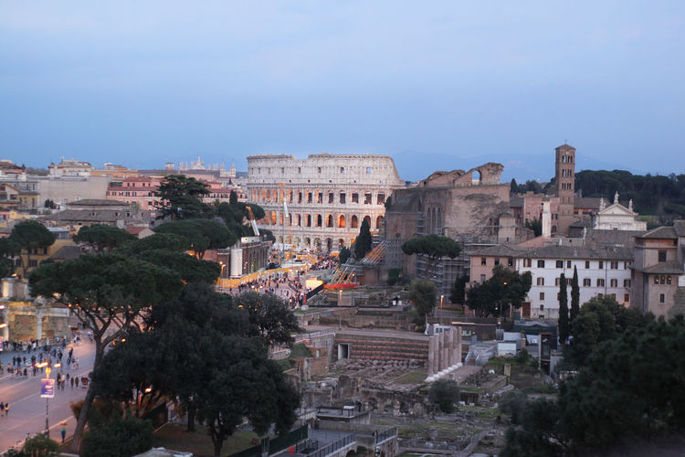Cozy Rome evening Allianz Rome Europe Coliseum Evening Travel Italy Architecture Evening Lights Streets Clouds Sky