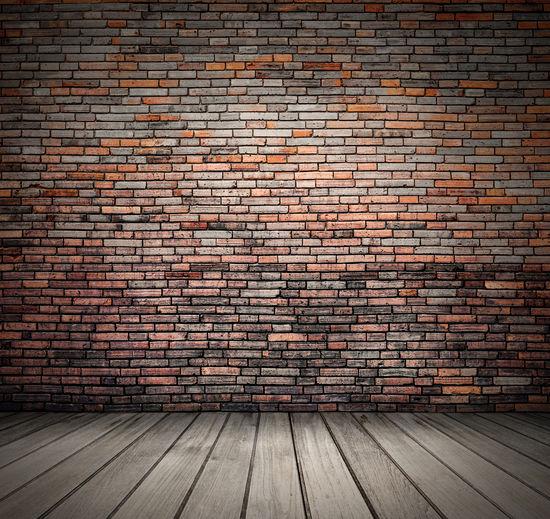 Blank vintage room with wood floor and brick grunge wall background Brick Wall Room Architecture Background Backgrounds Brick Brick Wall Floor Home Interior Interior Design Loft Loft Style Modern Loft No People Rural Scene Vintage Wood - Material Wood Floor