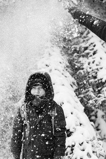 Great...again Beauty In Nature Black & White Boy Childhood Close-up Cold Temperature Day Leisure Activity Lifestyles Looking At Camera Nature One Person Outdoors People Portrait Real People Snow Snow Covered Snowing Standing Waist Up Warm Clothing Winter Young Young Adult