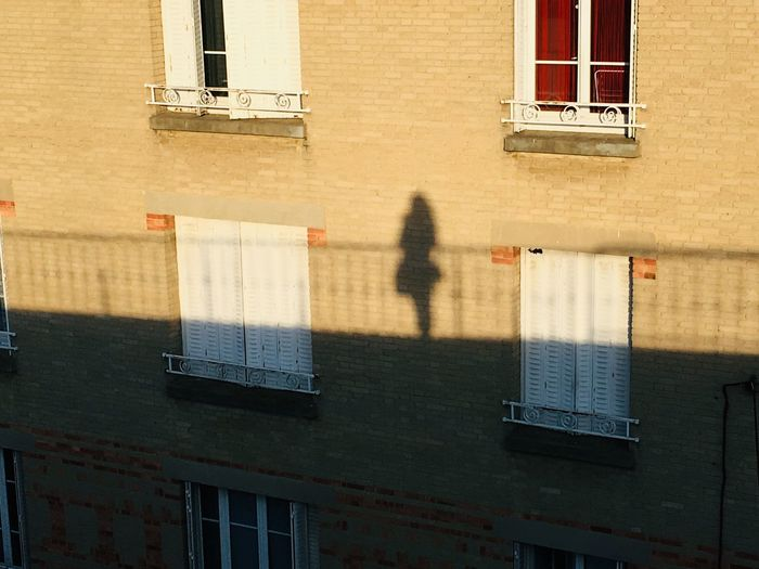 Shadow of a woman in the street silhouette
