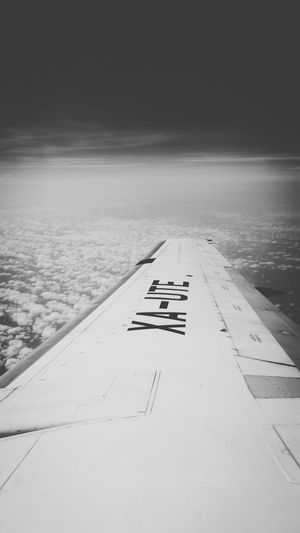 From An Airplane Window Somewhere In The Sky Monochrome