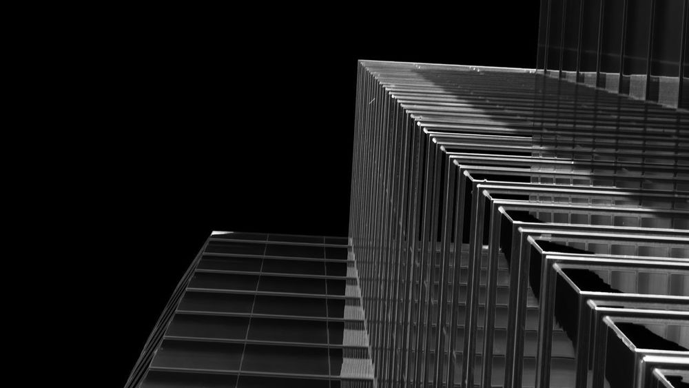 Architecture Black Sky Building Exterior Built Structure City Lookingup Low Angle View Modern Night No People Outdoors Skyscraper Staircase Travel Destinations UTC Buisnes Center ©JaRishel 2017