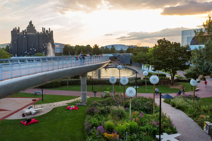 Futuroscope Theme Park Futuroscope Theme Park | Poitiers - France Futuroscope2017 Leisure Park Air Bar Architecture Building Exterior Built Structure City Cloud - Sky Day Grass Growth Nature Outdoors Plant Real People Sculpture Sky Sunset Tree
