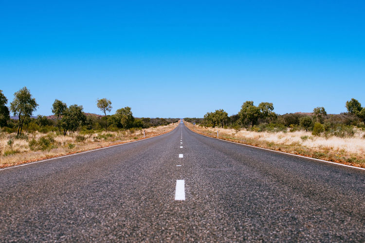 Australia Outback Road Rural Blue Sky Highway No People Roadtrip Rural Scene Wild