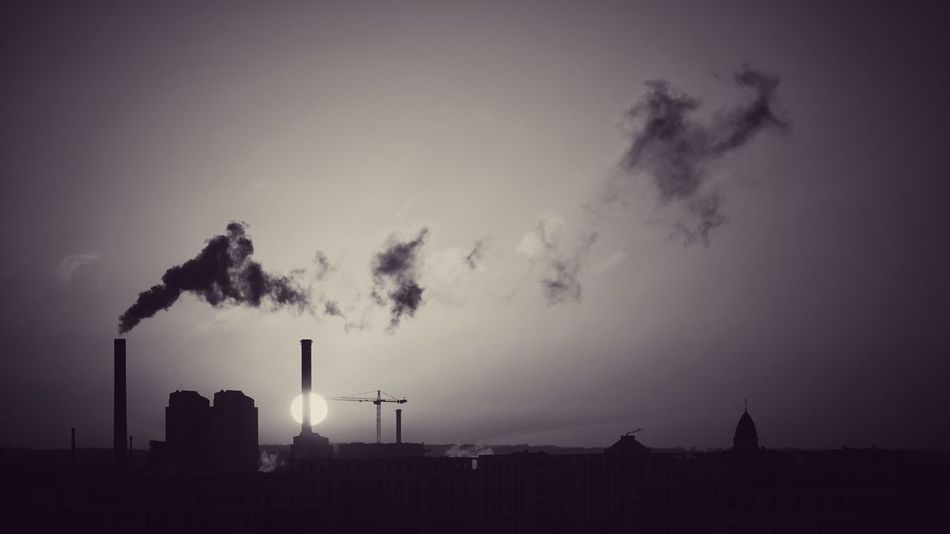 Morning sun... behind the smoke Industry Smoke Stack Factory Built Structure Emitting Building Exterior Architecture Fuel And Power Generation Environmental Issues Sky Chimney Silhouette Air Pollution Smoke - Physical Structure No People Environment Outdoors Environmental Damage Fumes Cooling Tower