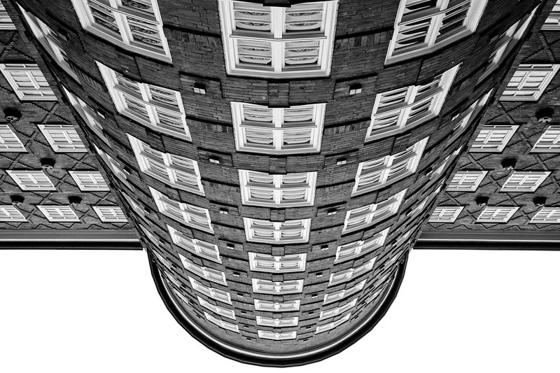 My entry for the Bnw_friday_eyeemchallenge 180°. The Architect - 2015 EyeEm Awards Blackandwhite Urban Geometry Open Edit
