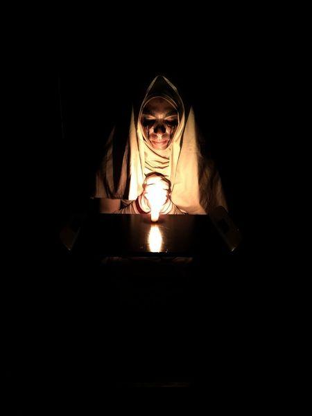 Suora Nun Halloween Americanhorrorstory Horror Handmademakeup One Person White Indoors  Psychiatric