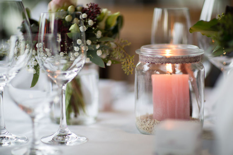 Candle Celebration Centerpiece Close-up Decor Decoration Focus On Foreground Glass Indoors  No People Table Table Decoration Wedding Wedding Ceremony Wedding Day Wedding Decoration Wedding Reception