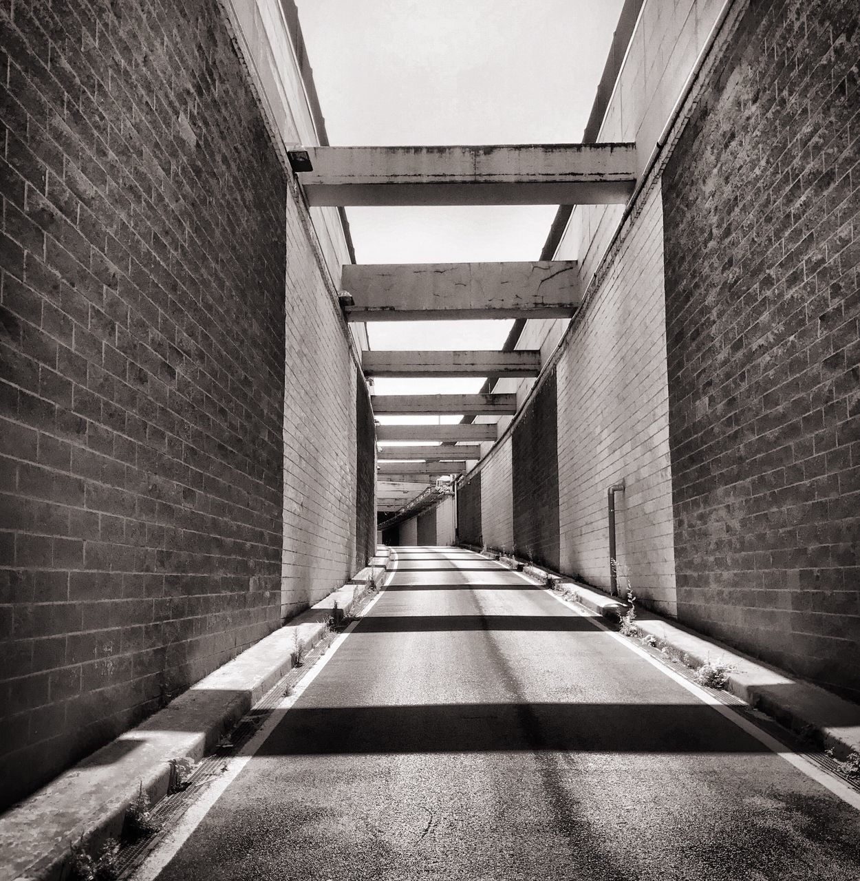the way forward, brick wall, architecture, built structure, no people, day, indoors