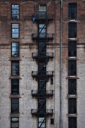 View of fire escape on residential building