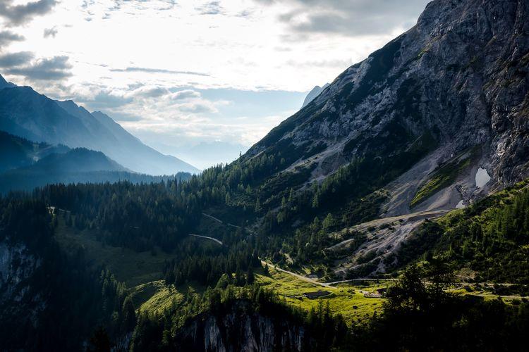 Early bird view near Coburger Hütte, Tyrol, Austria Scenics - Nature Beauty In Nature Mountain Tree Plant Tranquility Tranquil Scene Sky Cloud - Sky Mountain Range Nature Landscape Idyllic