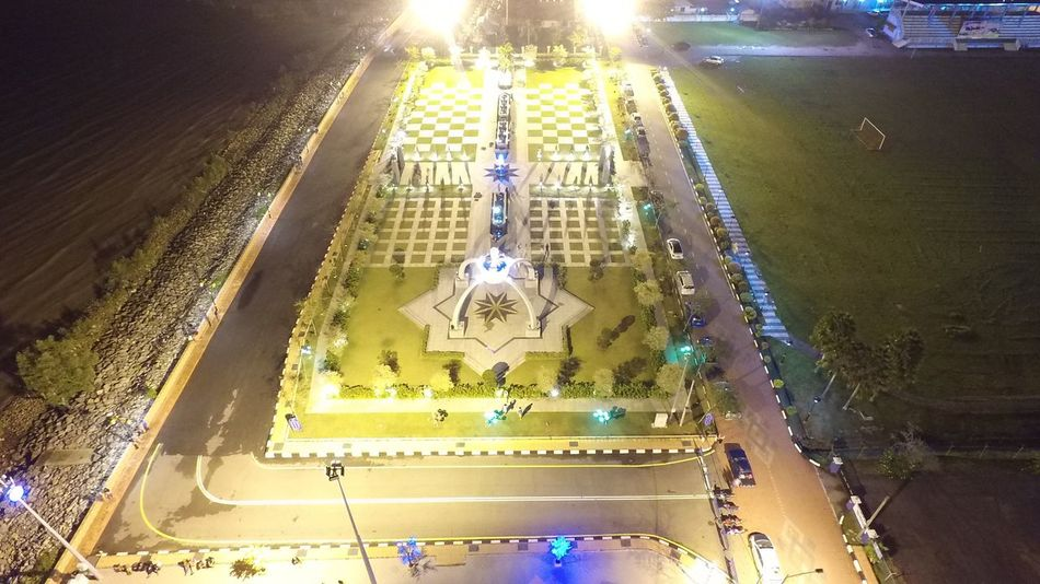 High Angle View Religion Spirituality Large Group Of People Place Of Worship Illuminated Architecture Built Structure Real People Outdoors Crowd Night People