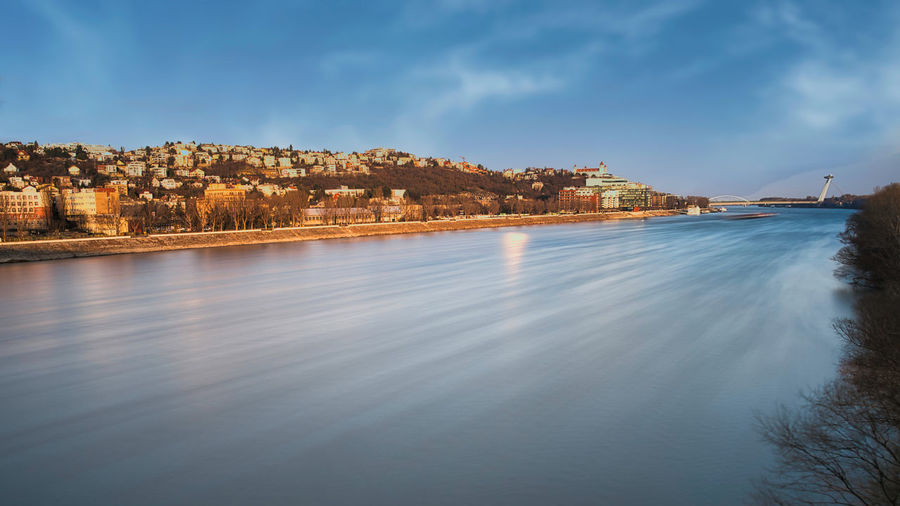 Bratislava cityscape and danube river, slovakia