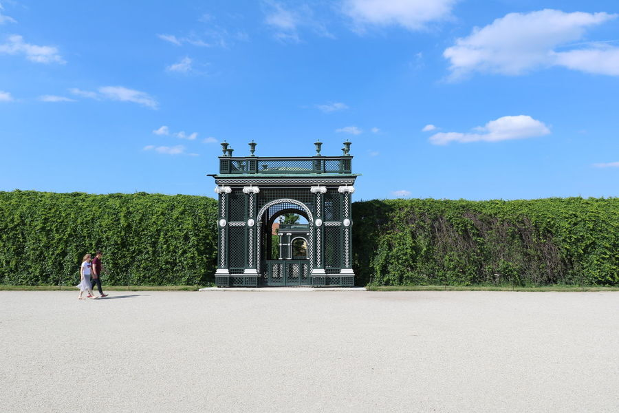 Architecture Blue Sky Built Structure Day Full Length Green Color Hedge Landscape Outdoors Park Plant Schönbrunn Sky Travel Travel Destinations Vienna