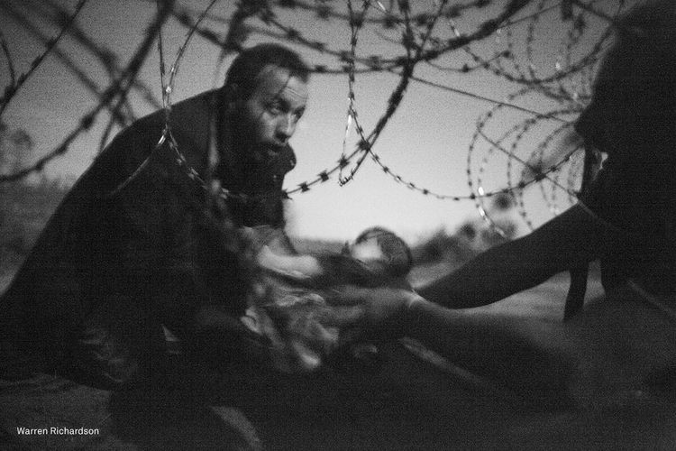 Refugees Cross The Border Form Serbia