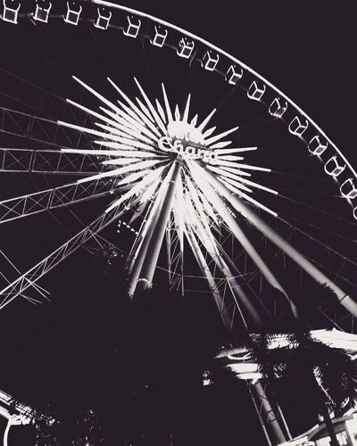 Asiatique wheel . Bangkok . Thailand Photoofday Photooftheday Bw_photooftheday Bws_worldwide BW_photography Bw_lover Bw_collection Bw Blackandwhite Photography Black & White Black And White Blackandwhite Asiatique The Riverfront Asiatique Bangkok Low Angle View Arts Culture And Entertainment Sky Illuminated Night Amusement Park No People Architecture Event Tree Light Outdoors Clear Sky Glowing Ferris Wheel