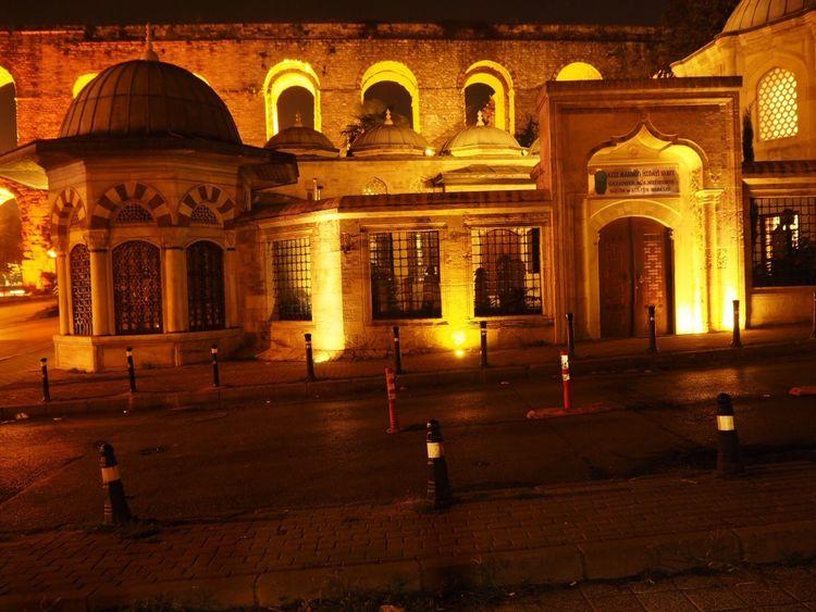 Mosque Architecture Built Structure Building Exterior Illuminated Night Architectural Column Arch