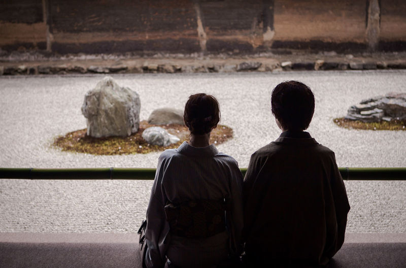 Contemplation Dry Garden Japan Japan Photography Japan Scenery Japanese Culture Japanese Garden Japanese Style Japanese Temple Kyoto Love Meditation Meditation Garden Meditation Place Patina People Ryōan-ji Stone Art Stone Garden Tradition Traditional Culture Tranquility Travel Travel Photography Zen