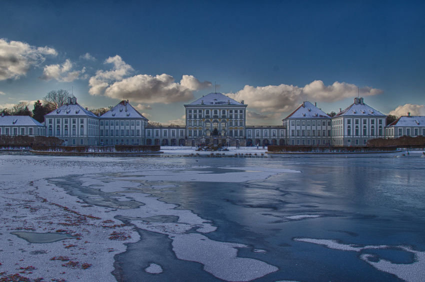 Architecture Blue Blue Sky HDR HDR Collection High Dynamic Range Ice Lake Nymphenburg Nymphenburg Palace Sky Snow Snow ❄ Travel Destinations Water Winter Shades Of Winter