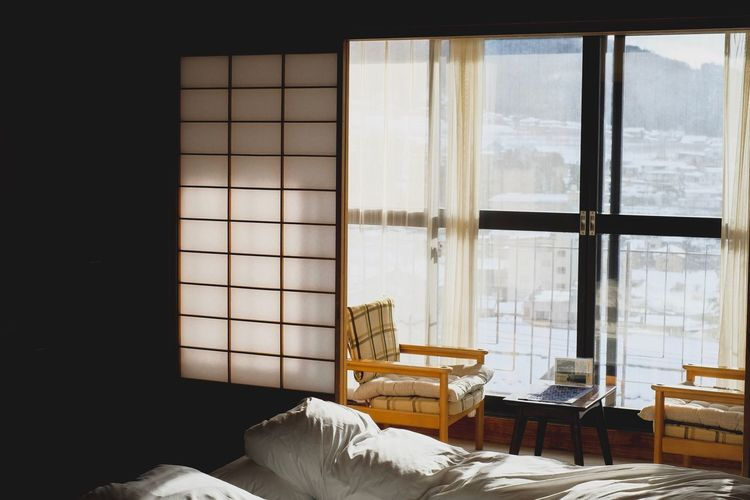 Japanese Style Japanese Hotel Nagano Prefecture,Japan Nagano, Japan Nagano Japanese Style Japanese  Japan Window Indoors  No People Furniture Architecture Day Glass - Material Home Interior Table Sunlight Domestic Room Building Cold Temperature Winter Snow Chair House Nature First Eyeem Photo