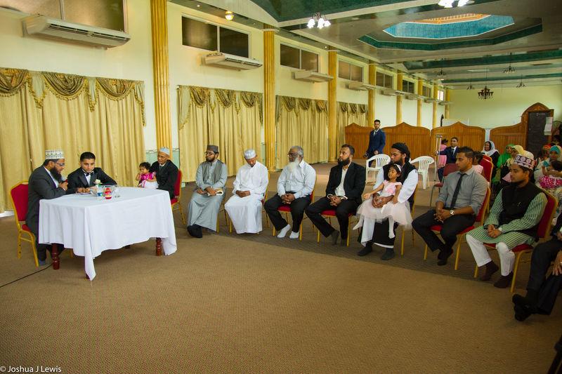 Large Group Of People Sitting Religion Celebration Life Events Architecture Muslimwedding Caribbean Trinidad And Tobago Ceremony Stillife Place Of Worship Traditional Clothing Beautiful