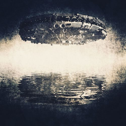 UFO UFO SpaceShip Visitor Visitation Close Encounter Encounter Sighting Visitors Hovering Flying Saucer Reflection Reflected  Water Dark Threat Threatening Space Fantasy Frightening Eerie Vision Invasion Invaders