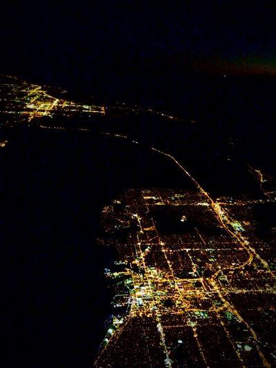 The Journey Is The Destination Orlando Plane View Night Lights Night Flight