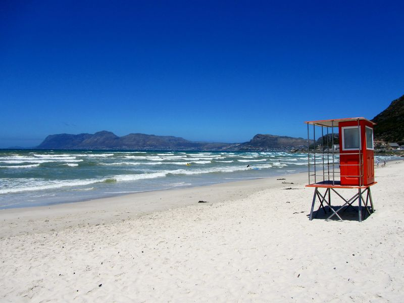 Lonely vigil. Muizenberg Muizenberg Beach Lonely Vigil Looking Towards Cape Point Shark Watching Beach Beauty In Nature Blue Built Structure Clear Sky Copy Space Day False Bay Horizon Over Water Lifeguard  Lifeguard Hut Nature No People Outdoors Sand Scenics Sea Sky Tranquil Scene Tranquility Water