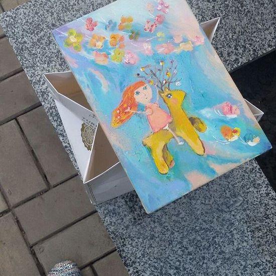 я художник мое творение подарок олень девочка бабочки Фантазия мой мир