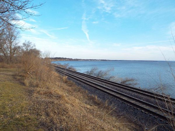 Sky No People Day Outdoors Nature Beach Water Sea River Close-up UnderSea Old-fashioned Fall,winter, Melting Snow, Leaves, Walking, Photoghp Multi Colored City Architecture Red Train Transportation Built Structure Train - Vehicle Railing Politics And Government