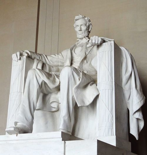 Abraham Lincoln Statue Abraham Lincoln Memorial Washington, D. C. Statue Sculpture Human Representation Art And Craft Low Angle View Art Famous Place History Monument Creativity International Landmark Memories Rickeherbertphotography Travel Photography